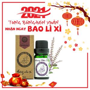 Tinh Dầu Hương Nhu Tía Nguyên Chất Đất Việt
