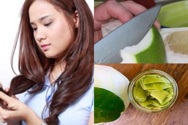Dùng vỏ bưởi trị rụng tóc bằng cách này giúp mái tóc trở nên mềm mại hơn sau 1 tuần