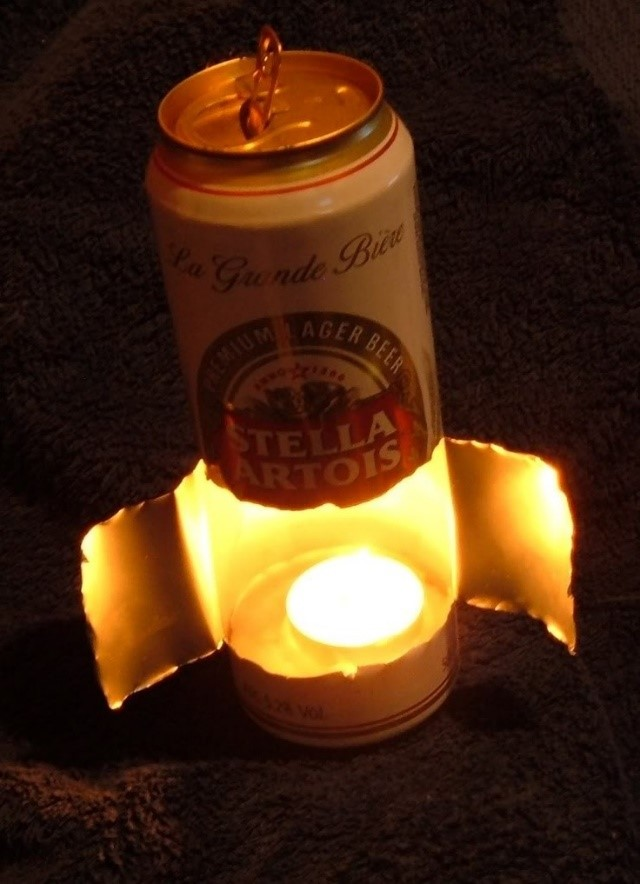 Làm đèn xông bằng lon sữa bò