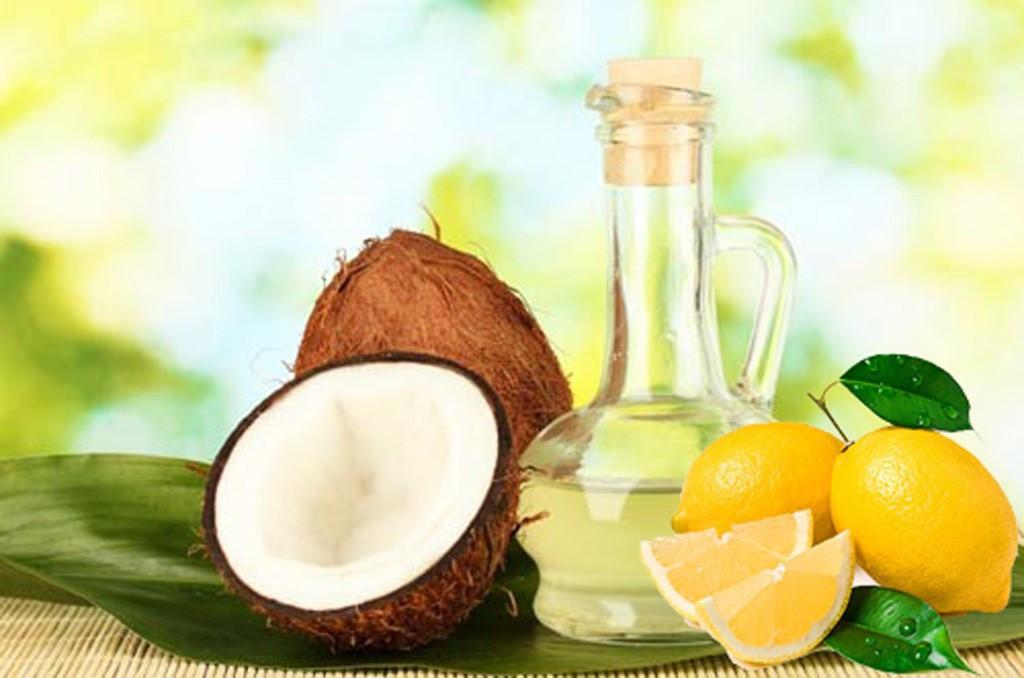 Sử dụng dầu dừa và nước cốt chanh