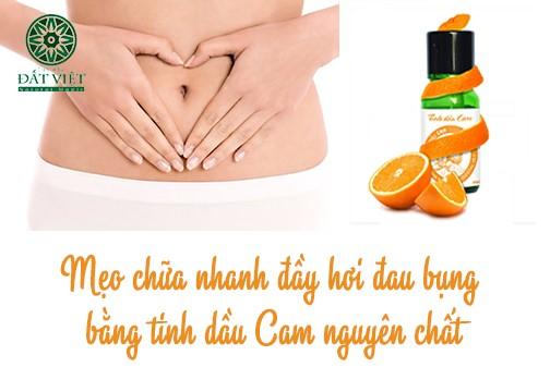 Mẹo nhanh chóng trị dứt điểm cơn đau bụng bằng tinh dầu cam