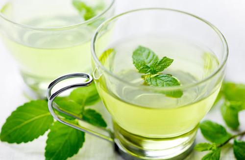 Bạc hà và trà xanh