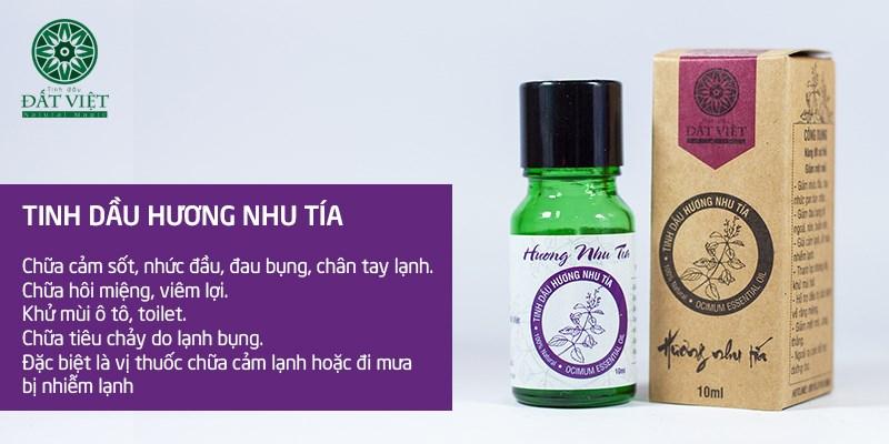 Công dụng của tinh dầu hương nhu tía nguyên chất