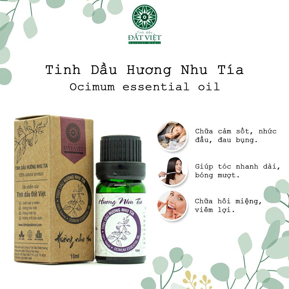 Công dụng tinh dầu hương nhu tía
